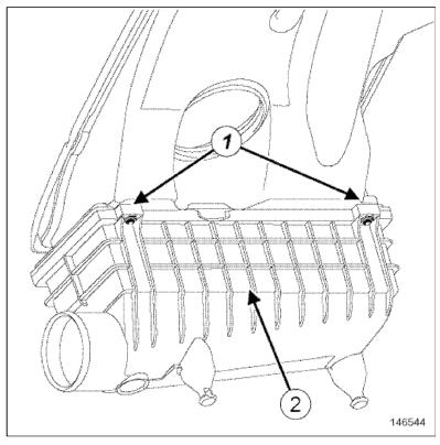 Замена воздушного фильтра Renault Duster