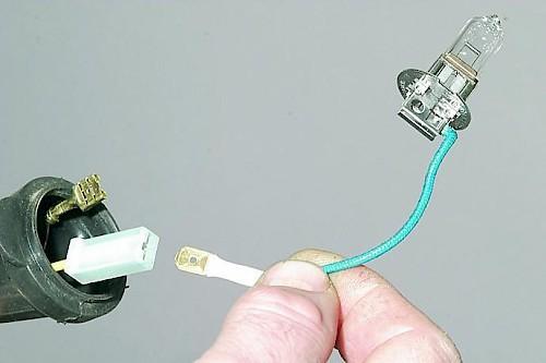Замена лампы противотуманной фары