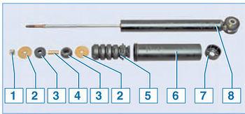 Замена задних амортизаторов (для применения на моделях Renault Logan I, Dacia Logan I)